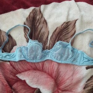 Blush Light Blue Lace Bra with Underwire in 32B